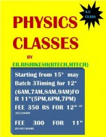 PHYSICS CLASSES DARBHANGA By Er. Rishikesh sir