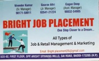 Job Placement  in Baddi-9817158911