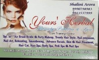 YOURS HERBAL BEAUTY PARLOUR SANTNAGAR BURARI DELHI
