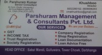 PARSHURAM MANAGEMENT AND CONSULTANTS PVT. LTD.