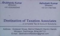 Destination Of Taxation Associates