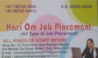 Hari Om Job Placement Baddi