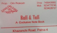 RUFF & TUFF A- EXCLUSIVE NOTE BOOK