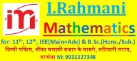 I.Rahmani Mathematics