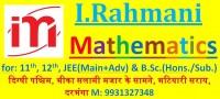 I.Rahmani Mathematics